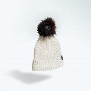 100% alpaca wool hat with pom pom