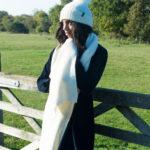 White alpaca scarf