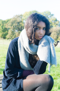 100% alpaca wool scarf