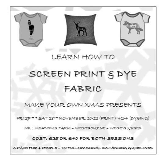 tie dye- screen print