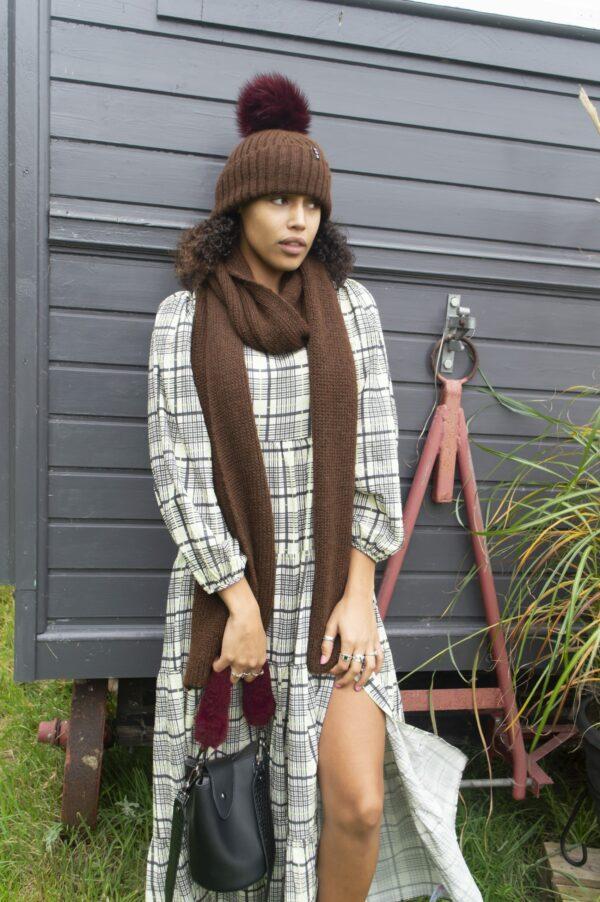 full outfit dark brown